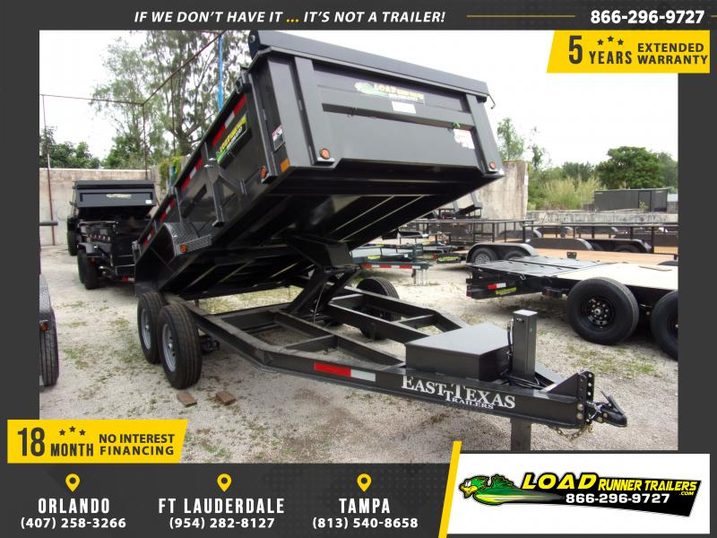 *114728* 7x14 Dump Trailer |LRT Tandem Axle Trailers 7 x 14