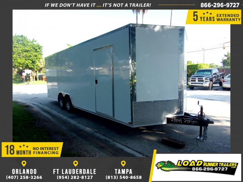 *116685* 8.5x24 Enclosed Cargo Trailer |LRT Tandem Axle Trailers 8.5 x 24