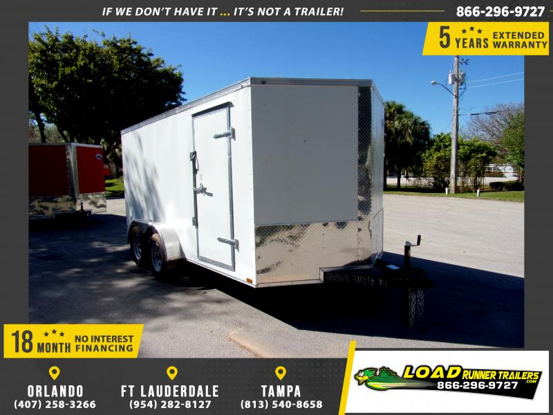 *113968* 7x14 Enclosed Cargo Trailer |LRT Tandem Axle Trailers 7 x 14