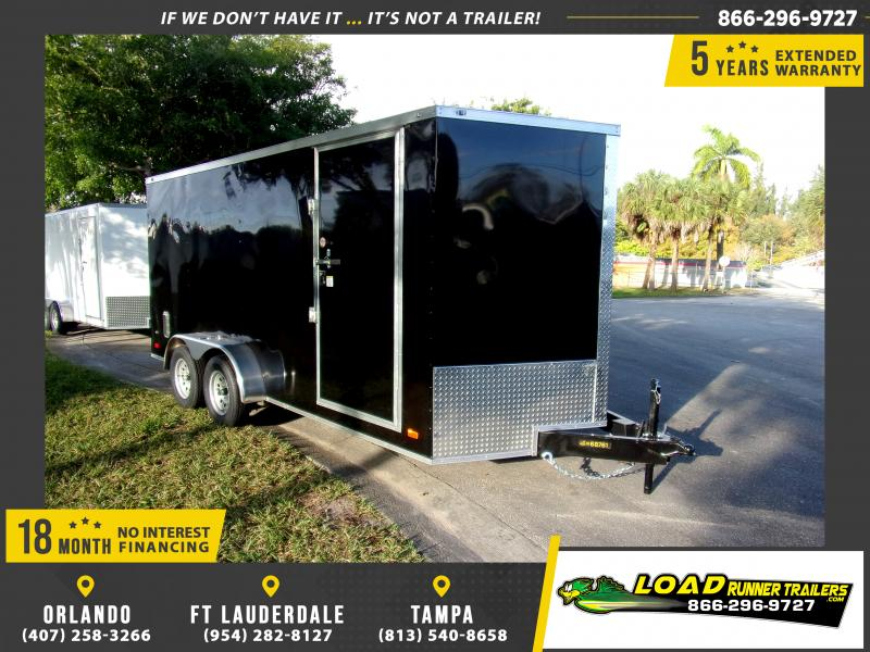*113023* 7x16 Enclosed Cargo Trailer |LRT Tandem Axle Trailers 7 x 16