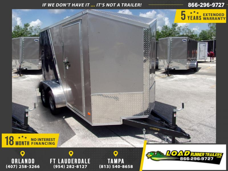 *109897* 6x12 Enclosed Cargo Trailer |LRT Tandem Axle Trailers 6 x 12