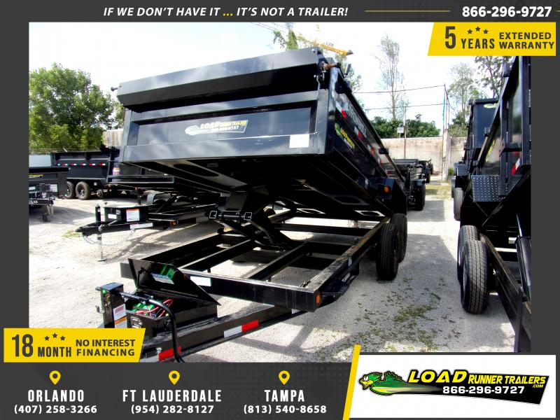 *115356* 7x16 Dump Trailer |LRT Tandem Axle Trailers 7 x 16
