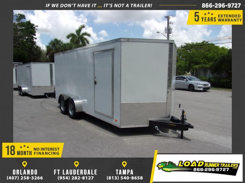 *115078* 7x16 Enclosed Cargo Trailer |LRT Tandem Axle Trailers 7 x 16