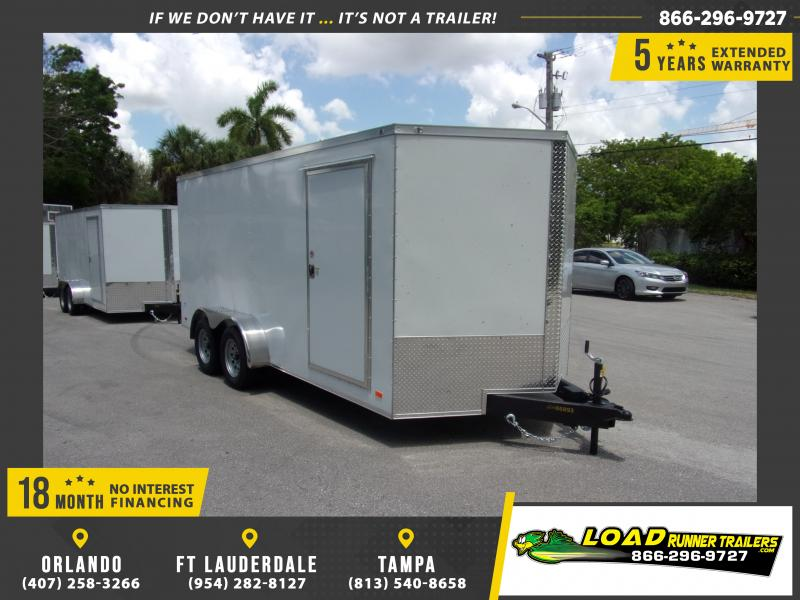*115078* 7x16 Enclosed Cargo Trailer |LRT Tandem Axle Trailers 7 x 16