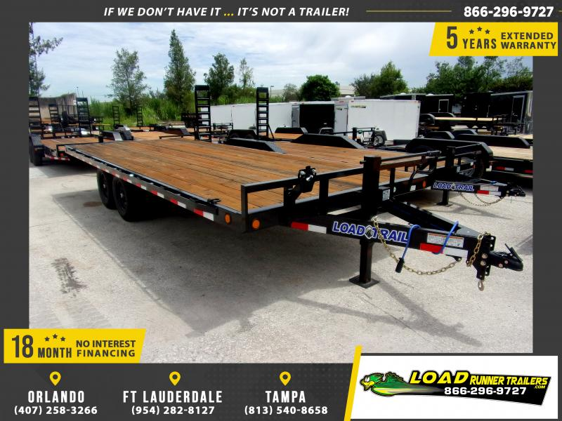 *108813* 8.5x20 Flatbed Deck Over Trailer |LRT Tandem Axle Trailers 8.5 x 20