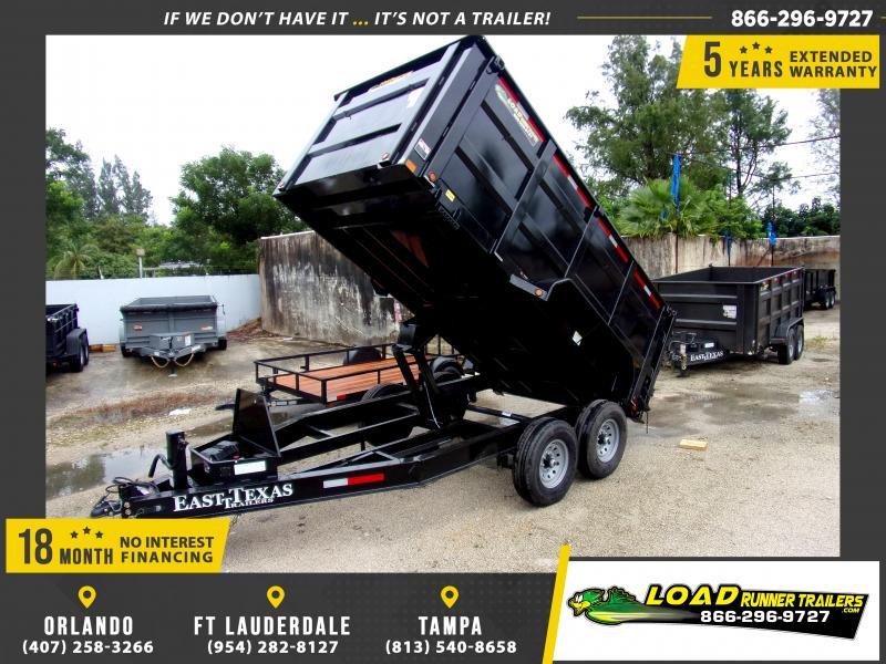 *DB72* 7x14 Dump Trailer |LRT Tandem Axle Trailers 7 x 14 | D83-14T7-48S