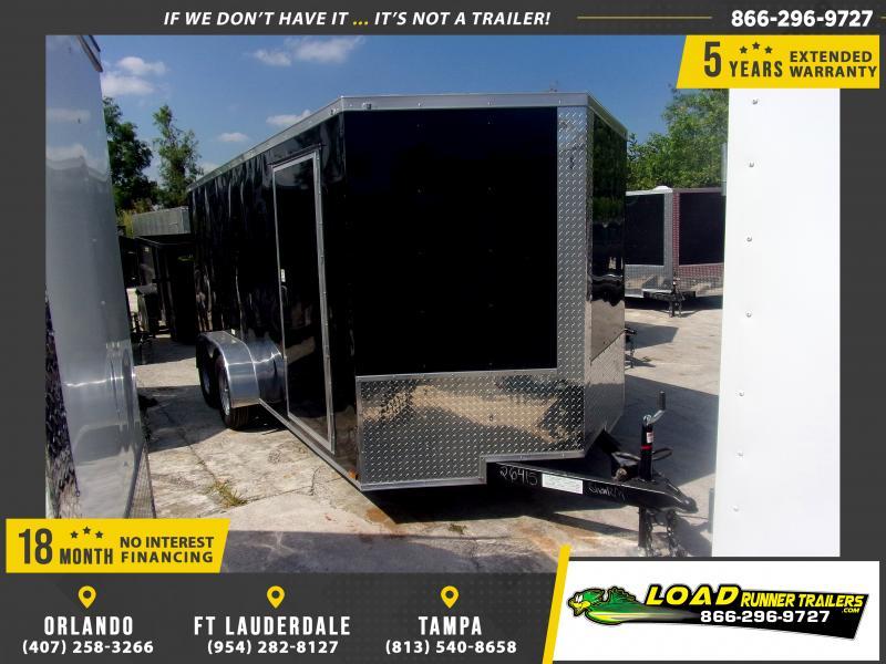 *117297* 7x16 Enclosed Cargo Trailer |LRT Tandem Axle Trailers 7 x 16
