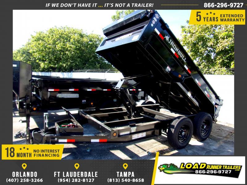 *112706* 6x12 Dump Trailer |LRT Tandem Axle Trailers 6 x 12