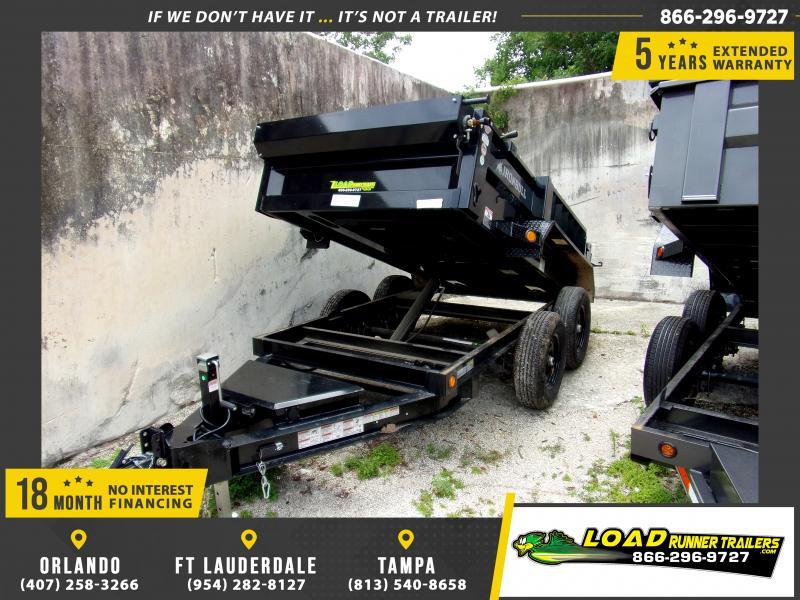 *114410* 5x10 Dump Trailer |LRT Tandem Axle Trailers 5 x 10