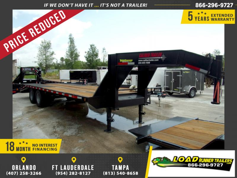 *106826* 8.5x25 Gooseneck Flatbed Deck Over Trailer |LRT Haulers & Trailers 8.5 x 25