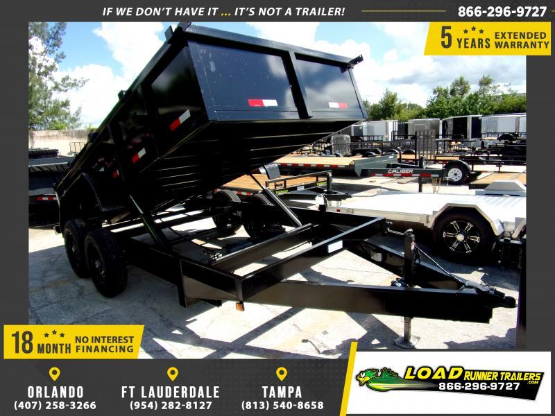 *117478* 7x14 Dump Trailer |LRT Tandem Axle Trailers 7 x 14