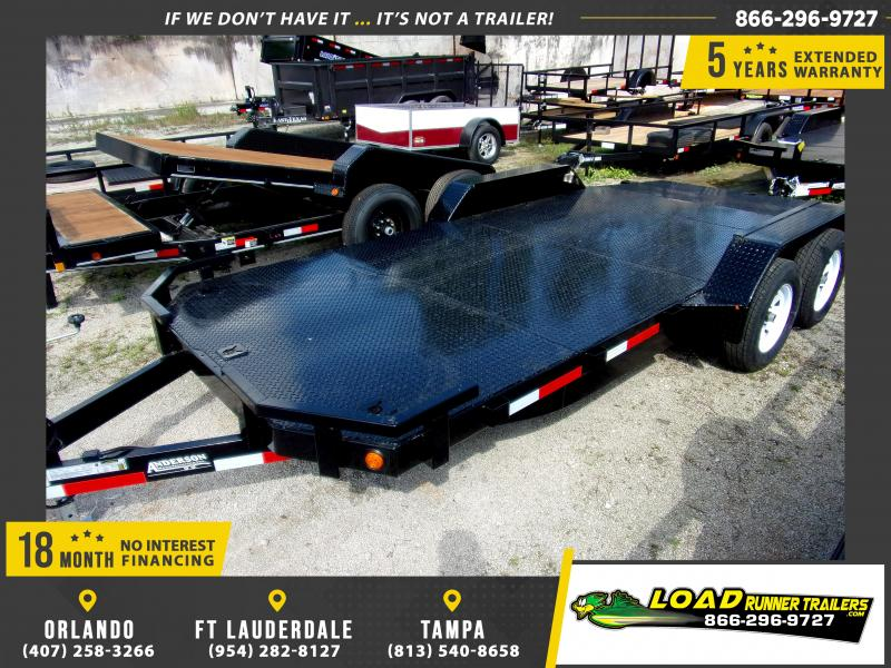 *111566* 7x18 Car Trailer |LRT Tandem Axle Trailers 7 x 18