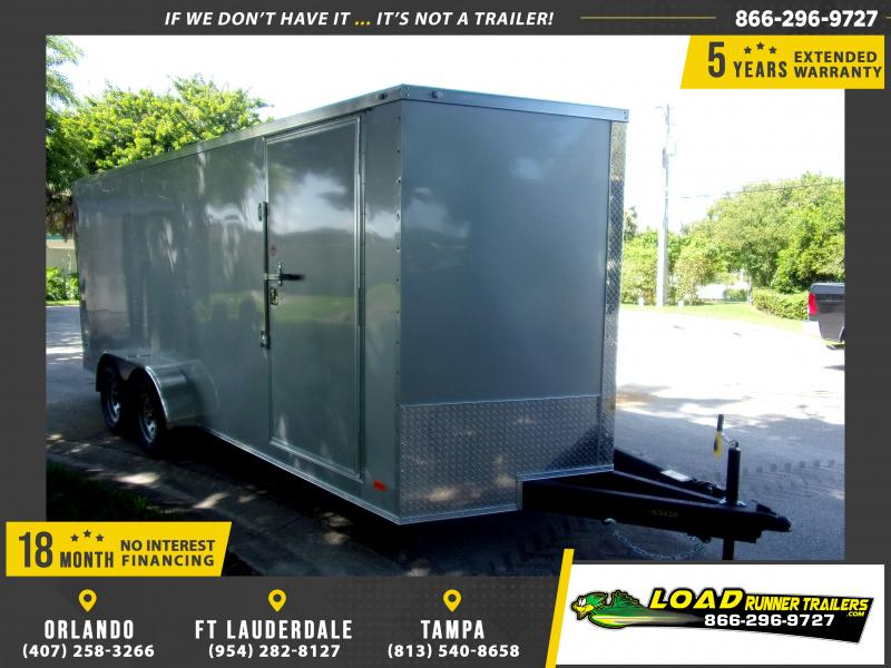*112056* 7x18 Enclosed Cargo Trailer |LRT Tandem Axle Trailers 7 x 18