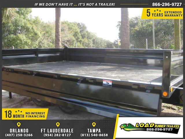 *DB33* 8x16 7 Ton Dump Trailer LR Trailers w/Fold Down Sides 8 x 16 | D96-16T7-18S