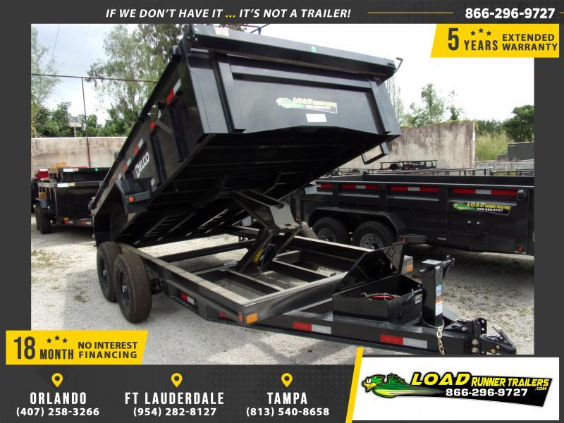 *114757* 7x14 Dump Trailer |LRT Tandem Axle Trailers 7 x 14