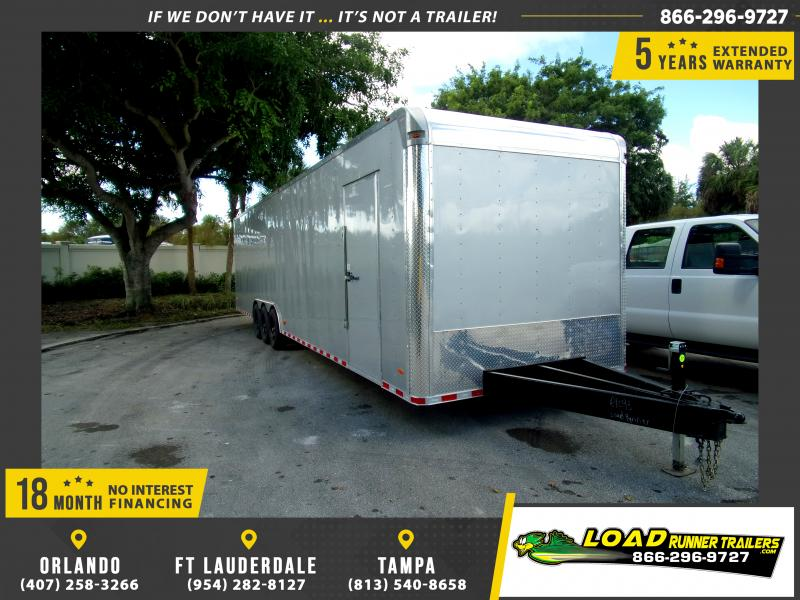 *112386* 8.5x36 2 Car Hauler Enclosed Cargo Trailer 8.5 x 36