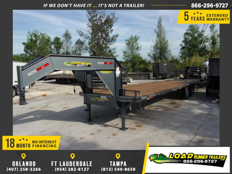 *114630* 8.5x30 Gooseneck Flatbed Deck Over Trailer |LRT Haulers & Trailers 8.5 x 30