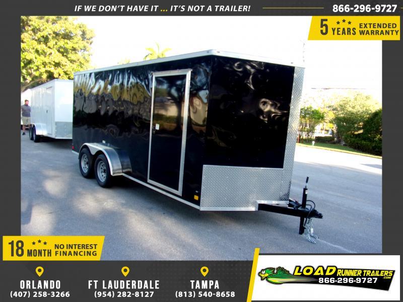 *E9K* 7x16 Enclosed Cargo Trailer |LRT Tandem Axle Trailers 7 x 16 | EV7-16T3-R