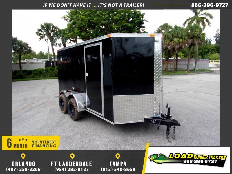 *116516* 6x12 Enclosed Cargo Trailer |LRT Tandem Axle Trailers 6 x 12