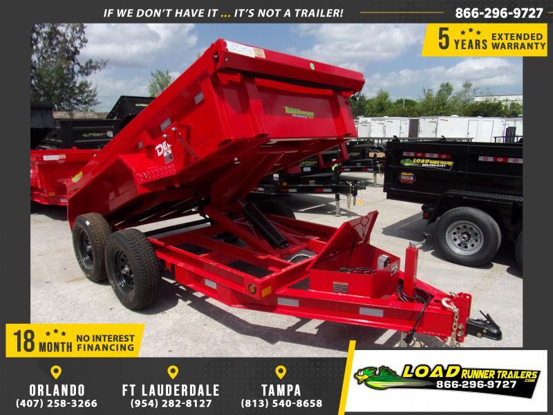 *114406* 5x10 Dump Trailer |LRT Tandem Axle Trailers 5 x 10