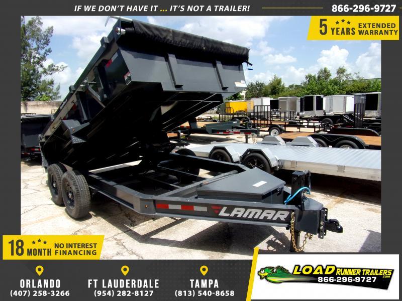 *117262* 7x14 Dump Trailer |LRT Tandem Axle Trailers 7 x 14