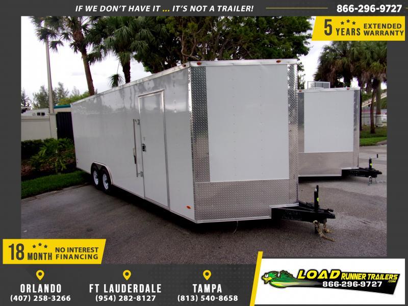 *116323* 8.5x24 Enclosed Cargo Trailer  LRT Tandem Axle Trailers 8.5 x 24