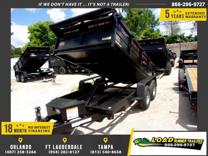 *115649* 6x12 5 TON Dump Trailer |LRT Trailers & Dumps 6 x 12