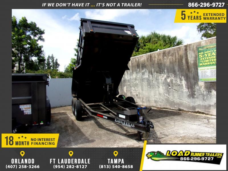 *114707* 7x14 Dump Trailer |LRT Tandem Axle Trailers 7 x 14
