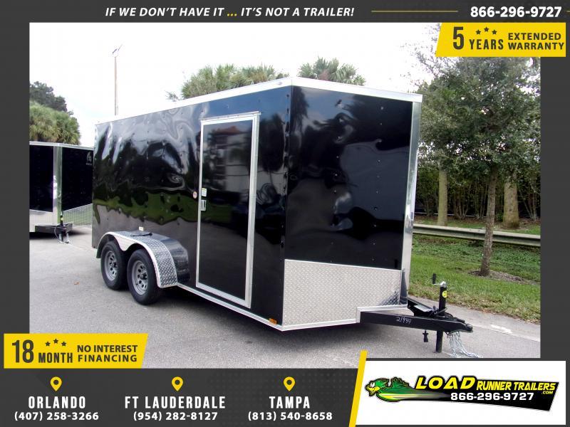 *112887* 7x14 Enclosed Cargo Trailer |LRT Tandem Axle Trailers 7 x 14