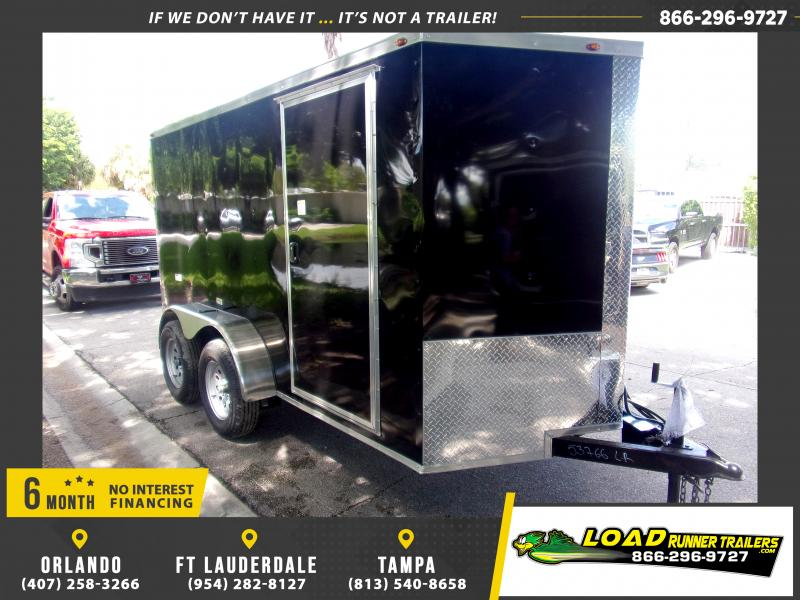 *117615* 6x12 Enclosed Cargo Trailer |LRT Tandem Axle Trailers 6 x 12