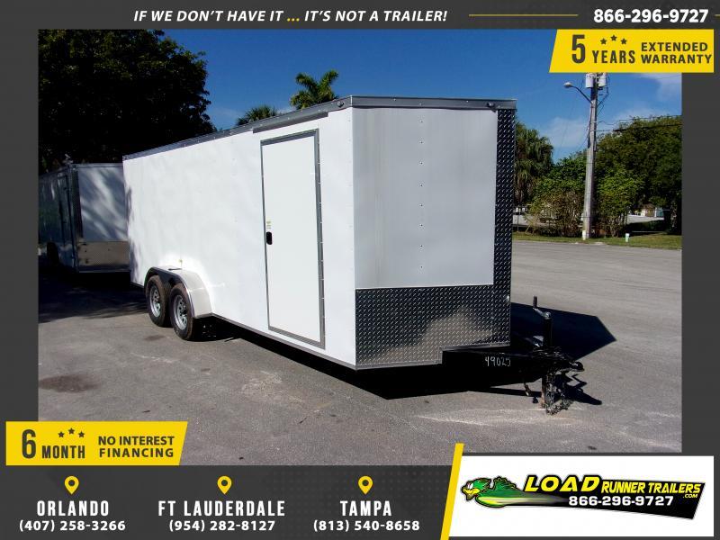 *115554* 7x18 Enclosed Cargo Trailer |LRT Tandem Axle Trailers 7 x 18