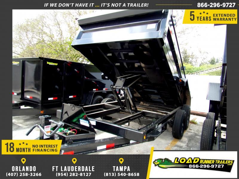 *115574* 7x14 Dump Trailer  LRT Tandem Axle Trailers 7 x 14