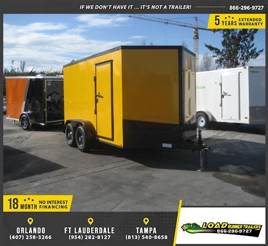 *E14* 7x12 Enclosed Cargo Trailer Trailers Tandem Axle 7 x 12   EV7-12T3-R