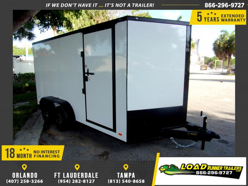 *115120* 7x14 Enclosed Cargo Trailer |LRT Tandem Axle Trailers 7 x 14