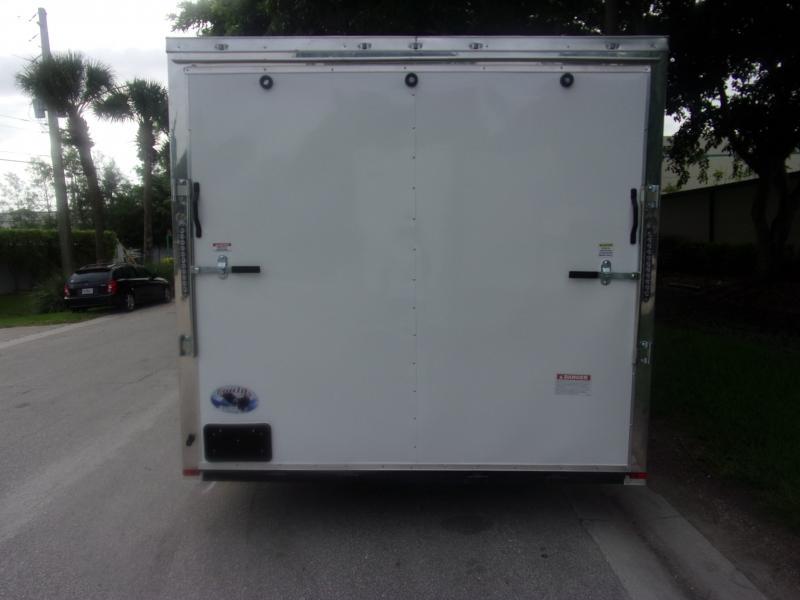 *116366* 8.5x18 Enclosed Cargo Trailer  LRT Tandem Axle Trailers 8.5 x 18