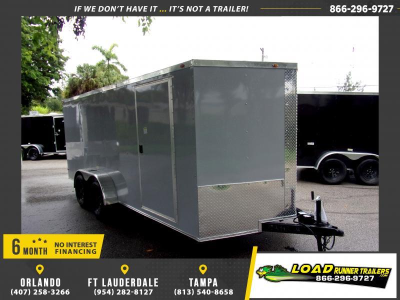 *116808* 7x16 Enclosed Cargo Trailer  LRT Tandem Axle Trailers 7 x 16