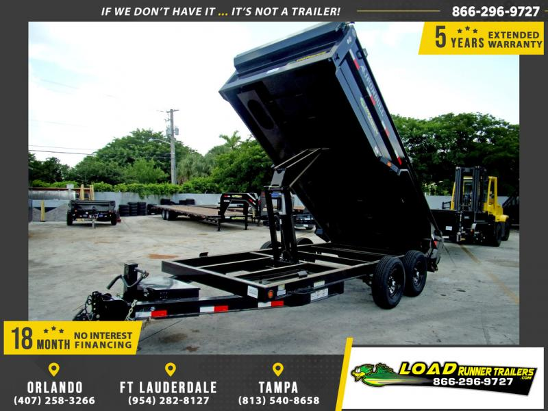 *110194* 7x16 Dump Trailer |LRT Tandem Axle Trailers 7 x 16