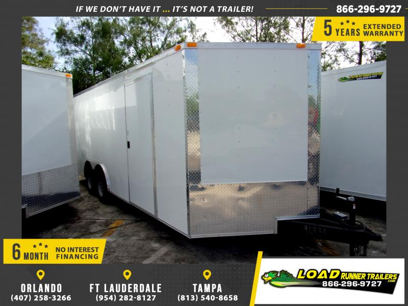 *115170* 8.5x20 Enclosed Cargo Trailer |LRT Tandem Axle Trailers 8.5 x 20