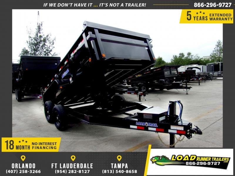 *115920* 7x14 Dump Trailer  LRT Tandem Axle Trailers 7 x 14