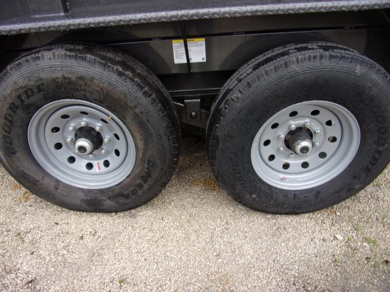 *111365* 7x14 Dump Trailer  LRT Tandem Axle Trailers 7 x 14