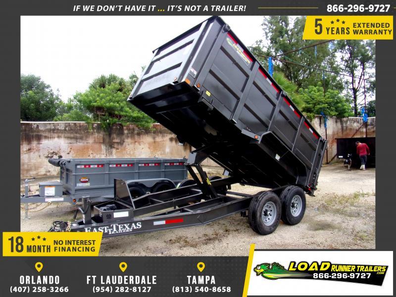 *111365* 7x14 Dump Trailer |LRT Tandem Axle Trailers 7 x 14