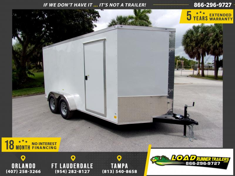 *114312* 7x14 Enclosed Cargo Trailer |LRT Tandem Axle Trailers 7 x 14