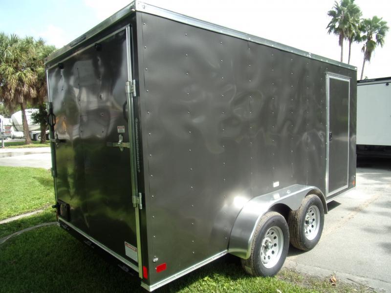 *117811* 7x14 Enclosed Cargo Trailer  LRT Tandem Axle Trailers 7 x 14