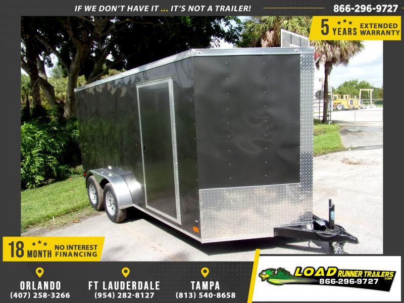 *117811* 7x14 Enclosed Cargo Trailer |LRT Tandem Axle Trailers 7 x 14