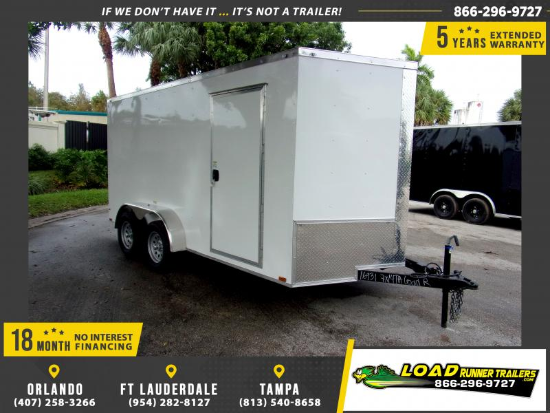 *112389* 7x14 Enclosed Cargo Trailer |LRT Tandem Axle Trailers 7 x 14