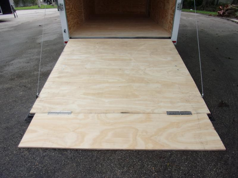 *112389* 7x14 Enclosed Cargo Trailer |LRT Tandem Axle Trailers 7 x 14