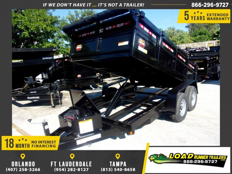 *117925* 6x12 5 TON Dump Trailer |LRT Trailers & Dumps 6 x 12