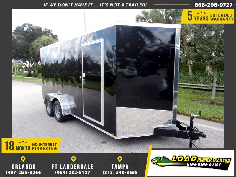*116598* 7x16 Enclosed Cargo Trailer  LRT Tandem Axle Trailers 7 x 16