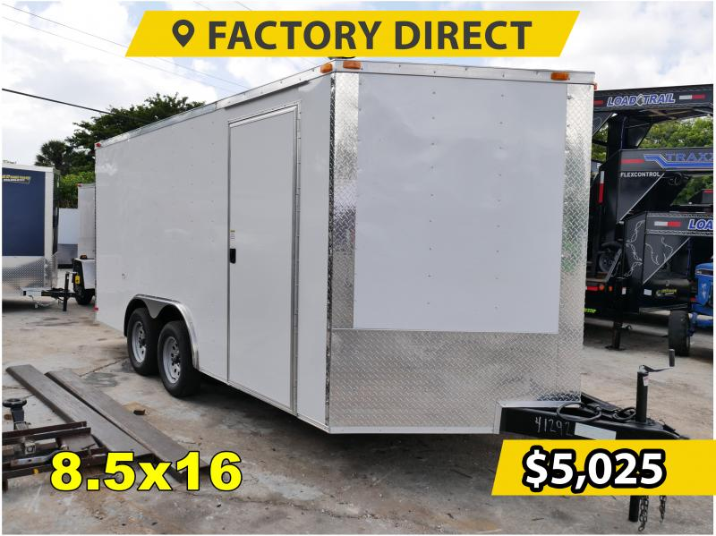 *FD816T3* 8.5x16 FACTORY DIRECT! | Enclosed Cargo Trailer 8.5 x 16