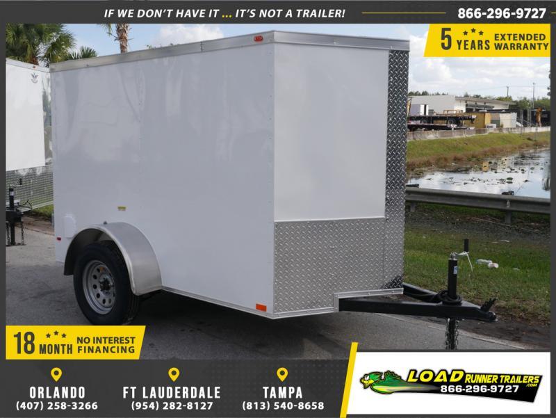 *E1F* 5x8 Enclosed Cargo Trailer |LRT Haulers & Trailers 5 x 8 | EV5-8S3-R
